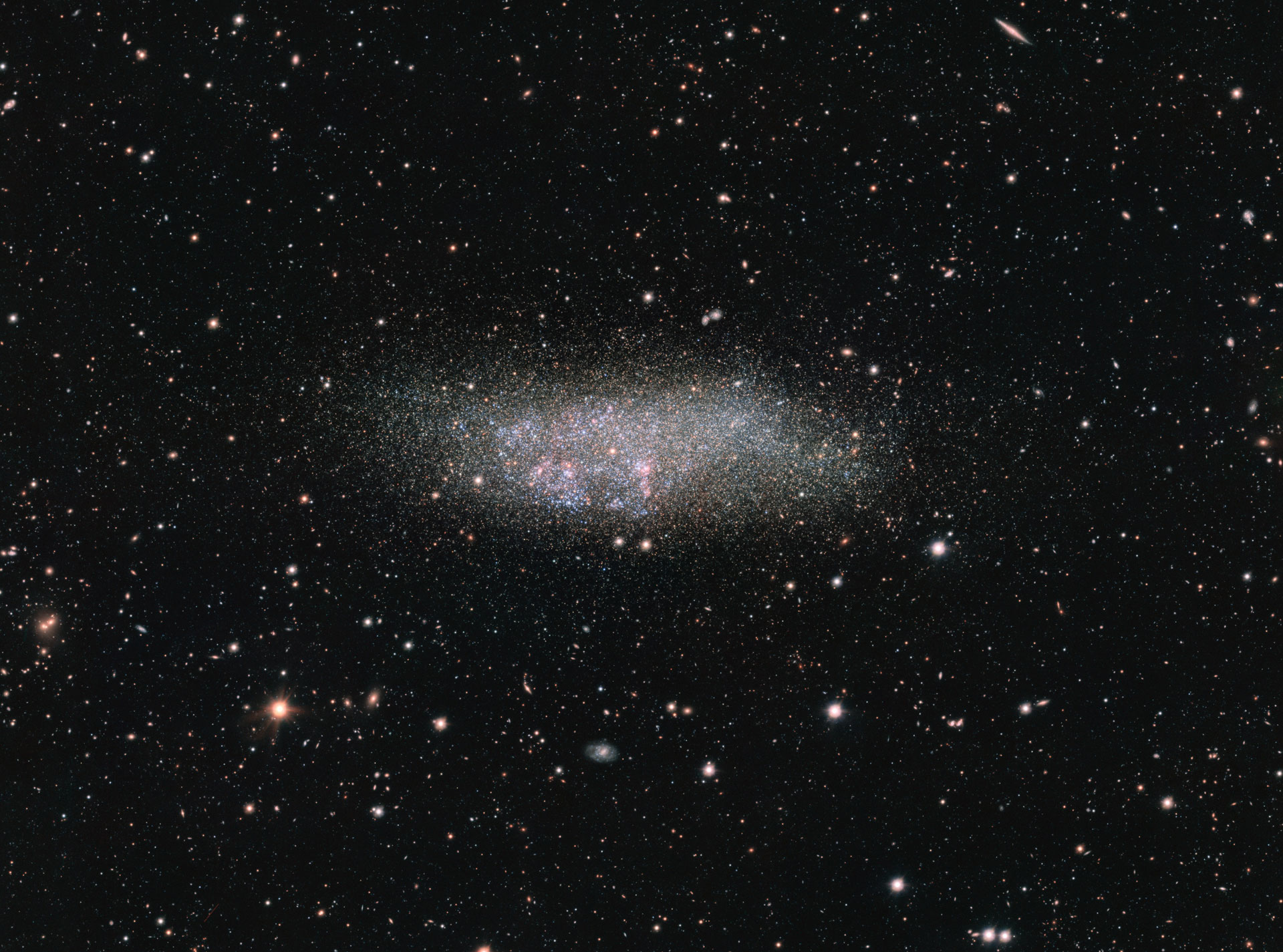 ESO Views Wolf Lundmark Melotte Galaxy